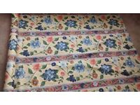 3 PART ROLLS OF FABRIC ,CURTAINS OR UPHOLSTERY WORK.