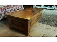 Pine Coffee Table Chest
