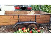 Twin wheel trailer