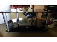 40 inch black glass 3 level TV Stand