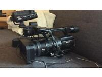 Sony hvr z1+ sony DR60 hdd recorder + tripod + wheels +wide angle lens + 2x lens + Petrol camera bag for sale  Bracknell, Berkshire