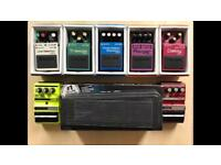 Various guitar FX pedals