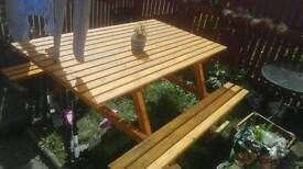 Out wooden table