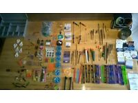 Job lot freshwater fishing tackle floats hooks weights etc