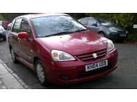 SUZUKI LIANA 1.6 GL 2004 04 REG MET RED 5 DOOR HATCH 5 SPEED MANUAL PAS A/C ONLY 77K MILES SUPERB