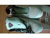 Diamond Marquise high blue suede shoe UK 10