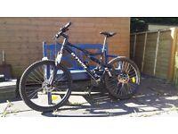 B'TWIN Rockrider 500s full suspension mountain bike