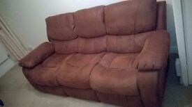harveys sofa faux suede 2year old excelent condition 6ft 8inches