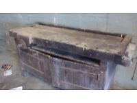Vintage carpenters work bench