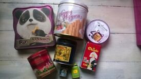 Tin boxes and cans