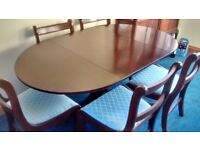 Drop Leaf Dining Table and Six Chairs