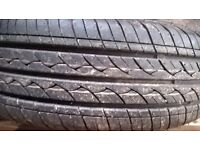 as new 155 65 13 inch car tyre on wheel