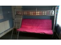Double bunk bed with mattress