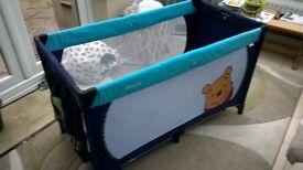 Hack travel cot and mattress