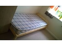 Wooden Single Bed + Matterass