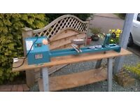 WOOD LATHE WITH TABLE