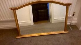 Large attractive painted mirror