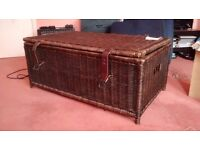 Habitat Henley Wicker Storage Hamper Basket Chest Beautiful Weave Large Spacious