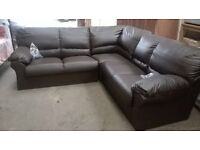 Brand New Leather Corner Sofa Colour Brown Unused Still Packaged Can Deliver