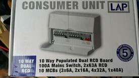Lap 10 Way High Integrity Consumer Unit