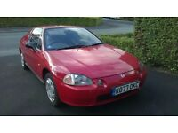 Honda CRX Esi, 1993 K reg, Milano Red, Manual Roof, 134000 miles, 2 owners from new.