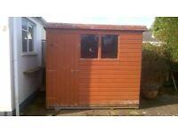 An 8`x 6`garden shed.