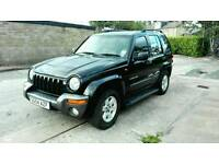 2004 JEEP CHEROKEE SPORT 2.5 CRD DIESEL BLACK LONG M.O.T EXCELLENT CONDITION & DRIVE NICE 4X4