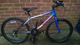 Univeral boys mountain bike 24ins wheel, 21 gears