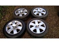 "Citroen C4 16"" Alloy Wheels 4 x 108 & Winter Tyres 205 55 16"