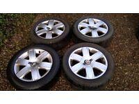 "Citroen C4 16"" Alloy Wheels 4 x 108 & Winter Tyres 205 55 16"