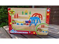 wooden train set - 40 pieces