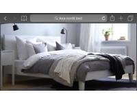 IKEA Nordli double bed and mattress