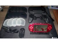 PSP console, games and accessorie (with separately camera)
