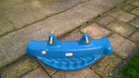 Little tikes whale double see saw