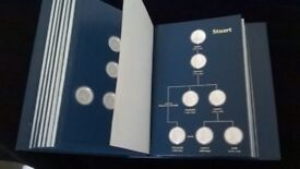 Kings and Queens of England Solid Sterling Silver Proof Book...43 Silver Coins