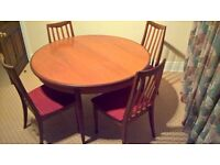 G Plan Table and 6 chairs