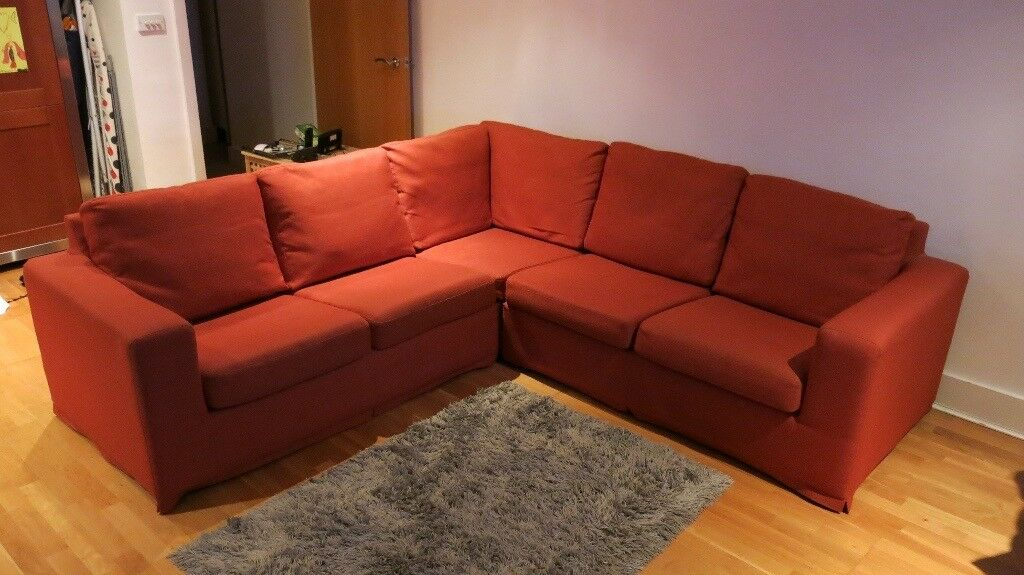 Orange Corner Sofa Very Good Condition