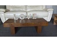 Chunky Rustic Solid Wood, Railway Sleepers, Coffee Table, !!!!!!ANY SIZE YOU REQUIRE!!!!!!