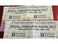Scottish Highland Show Tickets