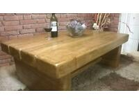 Hand made solid oak beam furniture made to your own requirements-coffee tables from £129.00