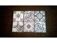 PATCHWORK DESIGN WALL OR FLOOR TILES X 22 OR TABLE TOP INSIDE OR OUTSIDE USE