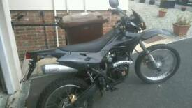 Motor bike 125 trials bike low mileage very clean or swap fishing boat