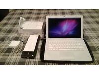 White Macbook 13 C2D 2.16Ghz 4GB 120GB HDD ProTools Avid Adobe CS6 MS OFFICE 2011 Warranty