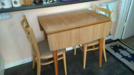 Table and 2 chair