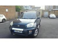 2002(RJ52DXE) RAV4 MANUAL 2.0 PETROL MOT APRIL 2017 LOW MILEAGE 75K