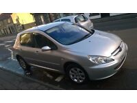 PEUGEOT 307 1.6 PETROL MOT END OF SEPTEMBER 2017
