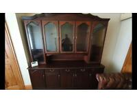 Wall unit lovely condition,76 across,width 19 height 79