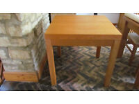 Habitat solid wood square table