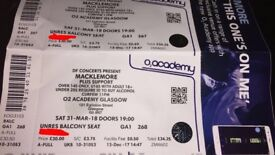 2x Macklemore Tickets