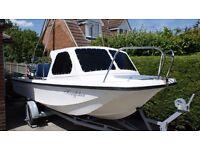 Wilson Flyer Taskforce 17ft Fishing Boat + 40 HP Outboard Engine + Trailer